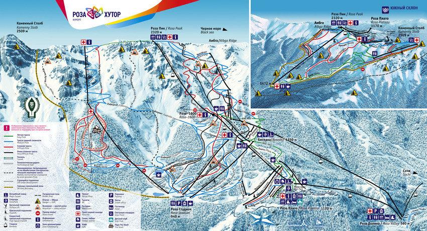 rosa khutor ski map